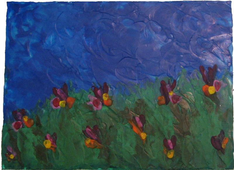 Field-of-Flowers---Encausti