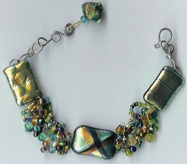 Braceletdichroicglassbea
